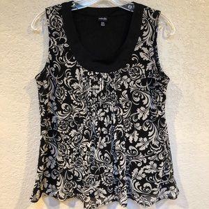 Rafaella black w gray pattern. Lined Sz P/S Rayon